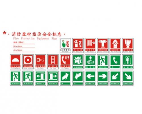消防器材指示安全标志